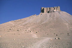 Syria Palmyra 6. Castle overlooking the Roman archeological site of Palmyra in Syria Royalty Free Stock Photos
