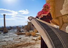 syria palmyra Kvinna Royaltyfri Fotografi