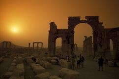 SYRIA PALMYRA ROMAN RUINS Stock Photography