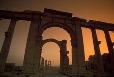 SYRIA PALMYRA ROMAN RUINS Stock Image