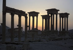 SYRIA PALMYRA ROMAN RUINS Stock Photos