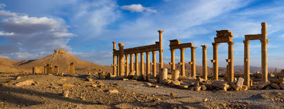 Syria . Palmyra. The ruins of the ancient city Palmyra Stock Photos