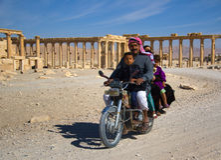 Syria . Palmyra. The ruins of the ancient city Palmyra Stock Image