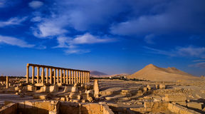 Syria , Palmyra. The ruins of the ancient city in the Syrian desert Royalty Free Stock Images