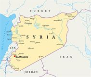 Syria Political Map Royalty Free Stock Image