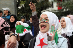 Syria Protest Royalty Free Stock Images