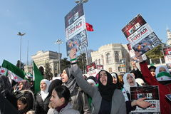 Syria Protest Royalty Free Stock Photography