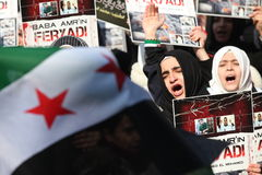 Syria Protest Stock Photos