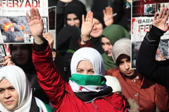 Syria Protest Stock Image