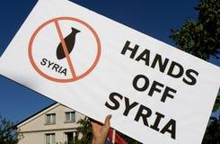 Syria Protest. In Sofia, Bulgaria Royalty Free Stock Image