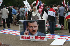 Syria Protests at White House 1 Royalty Free Stock Images