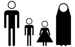 Syria Refugees (pictogram) Royalty Free Stock Photography