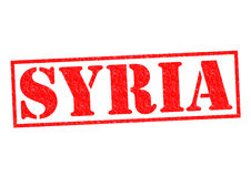 SYRIA. Rubber Stamp over a white background Royalty Free Stock Photo