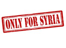 Only for Syria. Rubber stamp with text only for Syria inside,  illustration Stock Image
