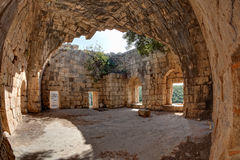 Syria - Saladin Castle (Qala'at Salah ad Din) Stock Photos