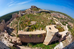 Syria - Saladin Castle (Qala'at Salah ad Din) Stock Photo