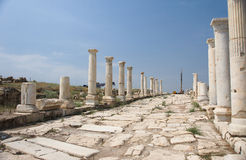 Syria street at Laodikeia Royalty Free Stock Image