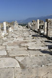 Syria Street in Laodikya Ancient City Stock Image