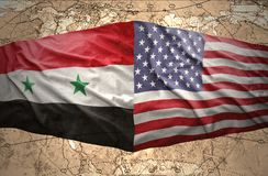 Syria and United States of America Royalty Free Stock Image