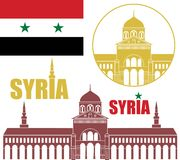 Syria. Vector illustration (EPS 10 Royalty Free Stock Photos