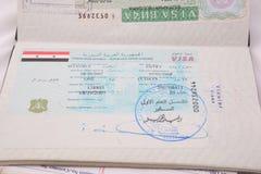 syria visa arkivbild
