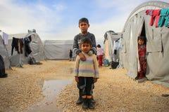 SYRIA-WAR-CHILD-VICTIM-REFUGEE royalty free stock images