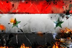 Syria - war conflict illustration. News background Royalty Free Stock Images
