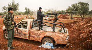 SYRIA-WAR-FIGHTERS Stock Images