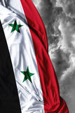Syria waving flag on a bad day Stock Photos