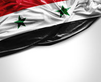 Syria waving flag on white background Stock Images