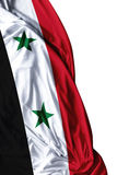 Syria waving flag on white background Stock Photos