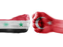 Syria x turkey Royalty Free Stock Photo