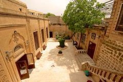 Syriac东正教在米迪亚特,土耳其。 免版税库存照片