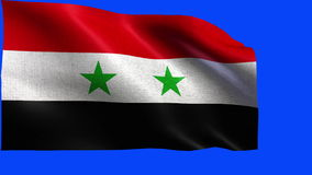 Syrian Arab Republic, Flag of Syria - LOOP Stock Photography