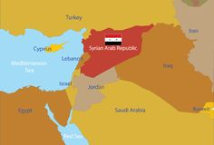 Syrian Arab Republic map. Stock Photography