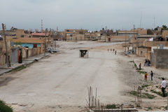 SYRIAN ARMY BOMBED SEREKANIYE (RAS AL AYN) Stock Images