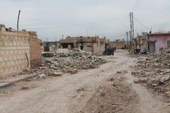 SYRIAN ARMY BOMBED SEREKANIYE (RAS AL AYN) Royalty Free Stock Photography