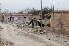 SYRIAN ARMY BOMBED SEREKANIYE. Royalty Free Stock Image
