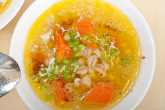 Syrian barley broth soup Aleppo style Stock Photography