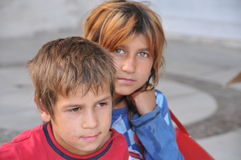 Syrian children Royalty Free Stock Image