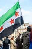 Syrian diaspora protests against Syrian war Stock Photography