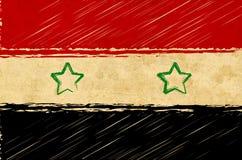 Syrian flag royalty free stock photo