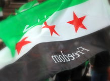 Syrian Flag Royalty Free Stock Photo