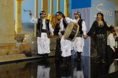 Syrian folk dancers at TT Warsaw Royalty Free Stock Photo
