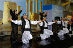 Syrian folk dancers at TT Warsaw Stock Photography