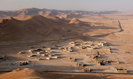 Syrian landscape. Syrian desert near the city of Palmyra (Tadmur royalty free stock photos