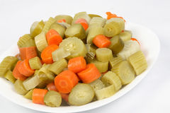 Syrian mixed pickle. Image of mixed fruit pickles on a plate Royalty Free Stock Photos