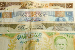 Syrian pound background Stock Images