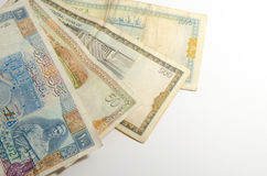 Syrian pound background Royalty Free Stock Images