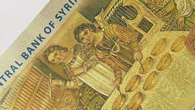 500 Syrian pounds banknote. stock video footage